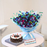 Black Forest Cake and Orchids with Rakhi