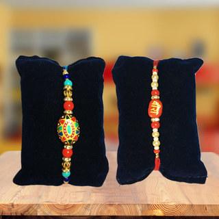 Set of 2 Exquisite Rakhis