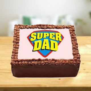 Super Dad Photo Cake