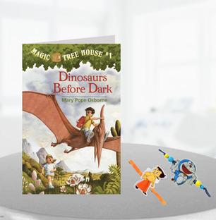 2 Kids Rakhi with Magic Tree House Kids Book