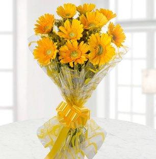 Valentine Yellow Gerbera Bouquet
