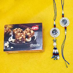 Colorful Lumba Rakhi with Doda Barfi
