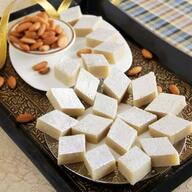 Kaju Burfi with Almonds