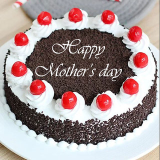 Premium Mothers Day Black Forest Egg less Cake