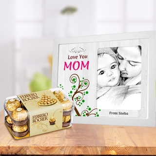Mothers Day Photo Frame and Chocolates