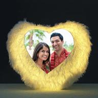 Personalised Heart Shape LED Cushion