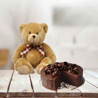 Teddy With 5 Star cake