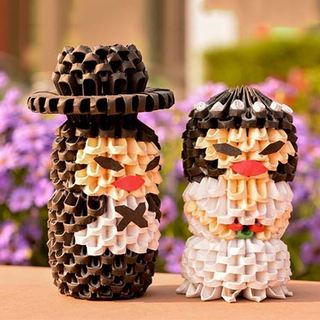 Chinese Couple Origami Craft