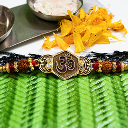 OM Golden Rakhi