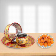 KarvaChauth Thali and Ladoo