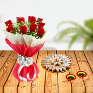 Diwali Flower and Sweets Combo