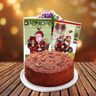 Christmas Plum Cake & Greeting Card