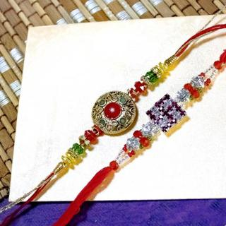 Set of 2 Rakhis-orange