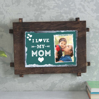 I Love You Mom - Personalised stone