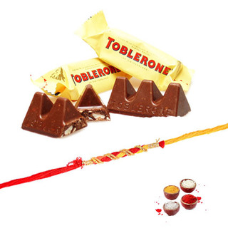 Toblerone with Rakhi