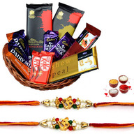 Chocolate Basket with Rakhi
