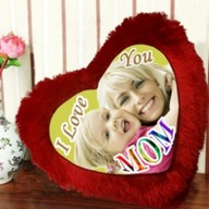 Personalised Heart Cushion for Mom