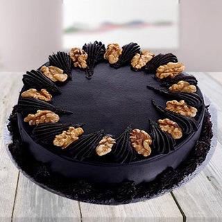 Dark Chocolate Cake with Walnuts