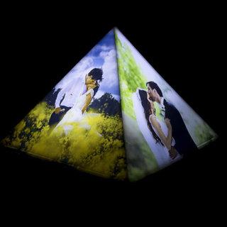 Personalised Lamp- Pyramid Tabletop