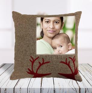 Personalised Jute Cushion