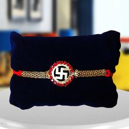 Swastik Rakhi with Beads