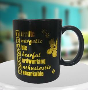 Teachers Definition Black Mug