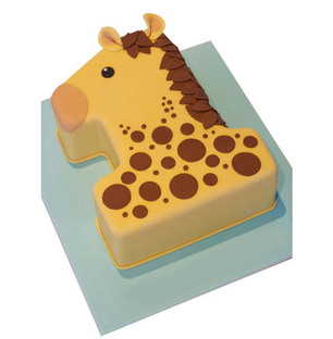 Giraffe Fondant Cake