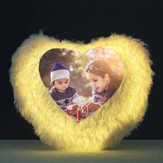Mothers Day Heart Shape LED Cushion