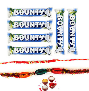 Bounty Chocolate with Rakhi