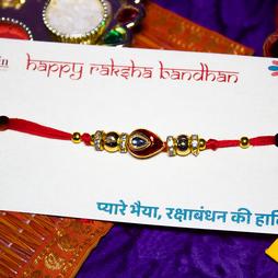 Special Kundan Rakhi