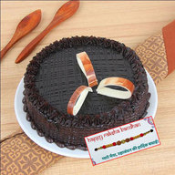 Premium Chocolate Truffle Cake with Rakhi
