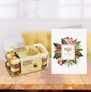 Christmas Chocolates and Greeting Card