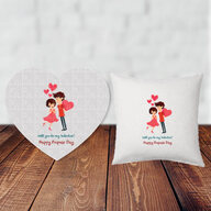 Propose Day Puzzle and Cushion