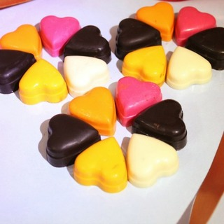 Colorful Heart Chocolates
