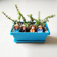 Monks Wishing Feng Shui Good Luck - Miniature Garden