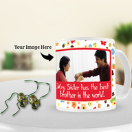Ben 10 Rakhi with Rakhi Photo Mug