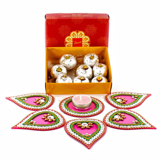 Kaju Sweet Hamper with Rangoli