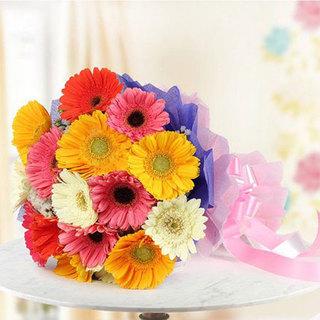 Lovely Mixed Gerbera Bouquet