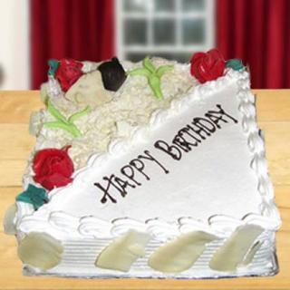 Square White Forest Cake