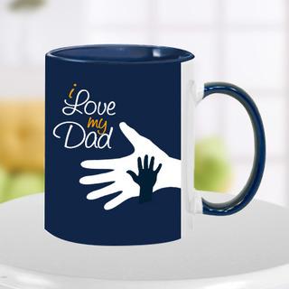 Blue Hand in Hand Dad Mug