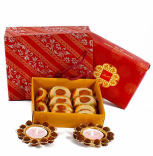 Rudraksh Diya with Almond Sweet Combo