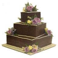 3 Tier Square Chocolate Cake