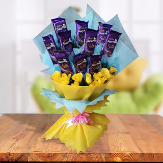 Valentine Flowers and Chocolate Bouquet