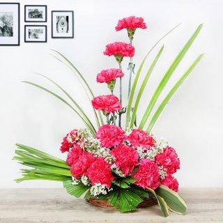 Red Carnation Floral arrangement