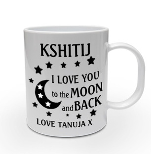 Love to the Moon Personalised Mug