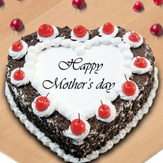 Mothers Day Exclusive Heart Shape Black Forest Cake
