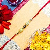 Wooden Pearls Rakhi