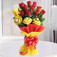 Valentine Roses N Chocolates Delight
