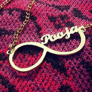 Personalised Name Infinity Neckpiece