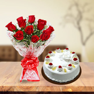 Roses and Pineapple Cake